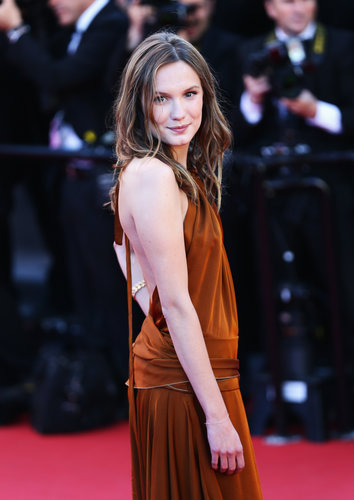 Ana Girardot smirked at Friday's premiere of The Immigrant in Cannes on Friday.