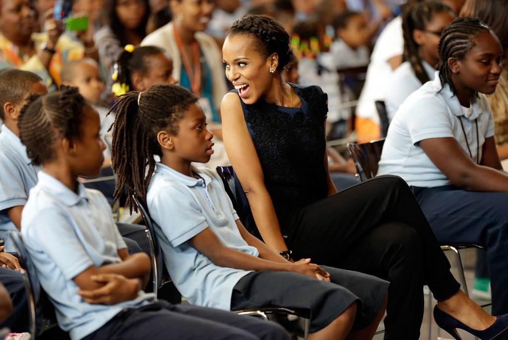Kerry Washington and Michelle Obama Bring Dance Moves and Wise Words to DC Kids