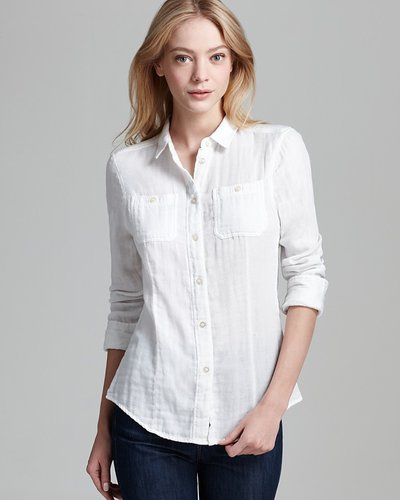 Aqua Shirt - Double Faced Button Down