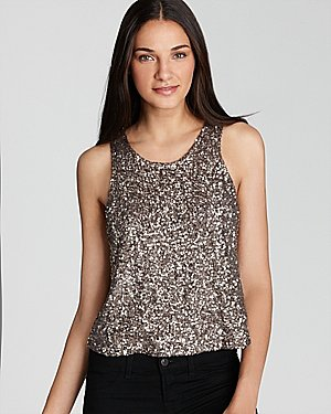 Lovers + Friends Tank - Happiness Sequin