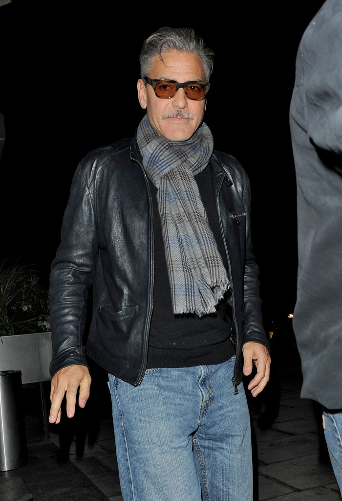 George Clooney spent a night out in London.