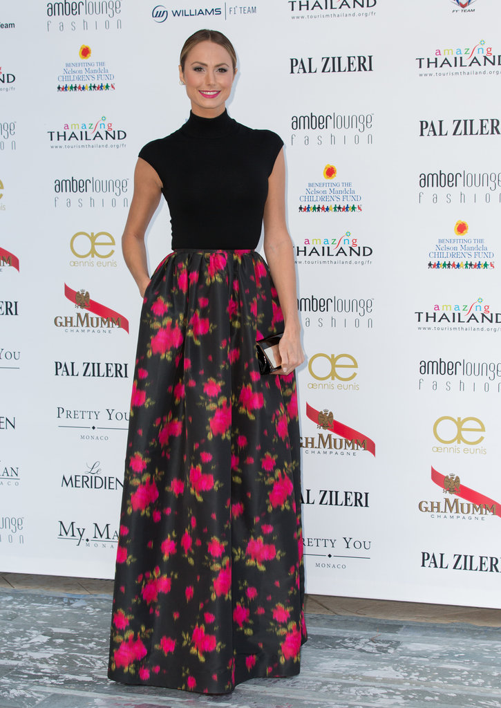 Stacy Keibler attended the Amber Lounge Fashion party in Monaco.