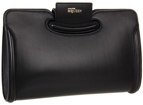 Alexander McQueen - Heroine Clutch (Black) - Bags and Luggage