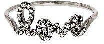 Sydney Evan Blackened White Gold Script LOVE Ring with Diamonds
