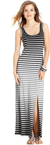 AGB Dress, Sleeveless Striped Maxi