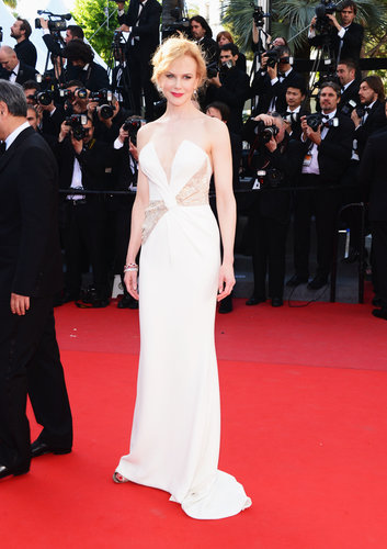 A sexy white, custom-made Giorgio Armani dress helped round out a very fashionable Cannes for Nicole Kidman, whose closing ceremony sparkle came courtesy of Harry Winston.