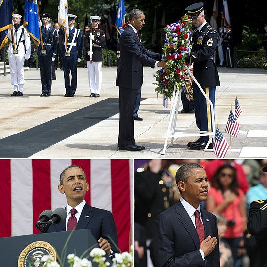 Obama Pays Tribute to Fallen on Memorial Day