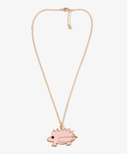 FOREVER 21 Porcupine Charm Necklace