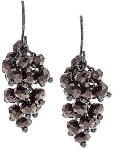 New! Kenneth Cole Purple CZ Dangle Earrings