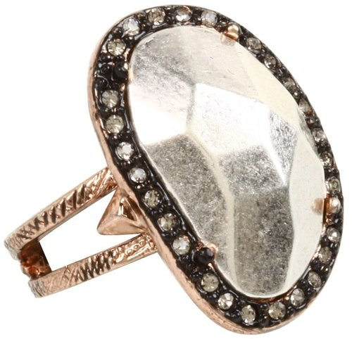 House of Harlow 1960 - Vertical Sahara Sand Ring (Rose Gold) - Jewelry