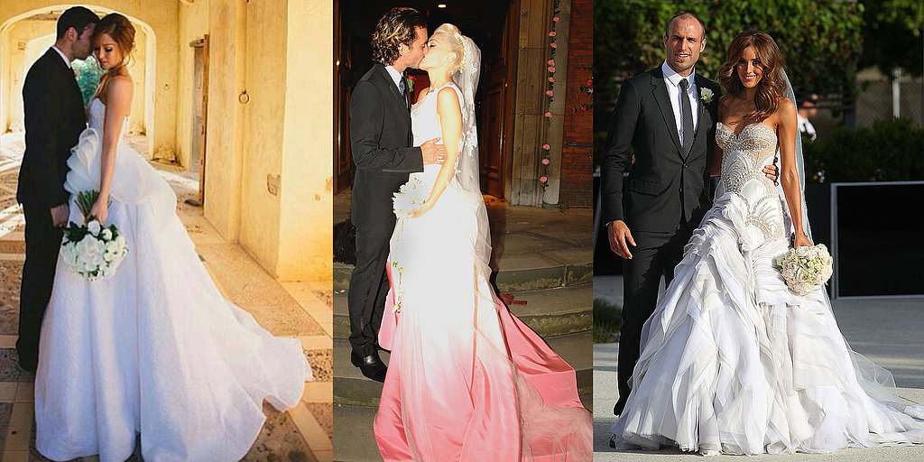 celebrity wedding dresses designers 90