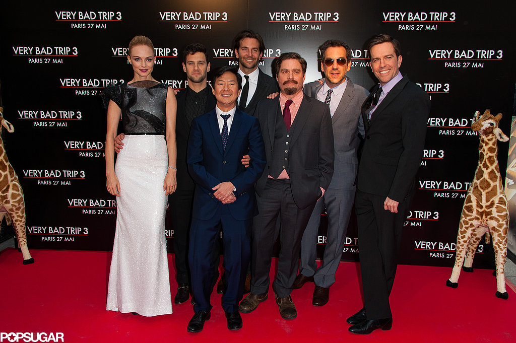 Bradley Cooper, Justin Bartha, Ed Helms, Zach Galifianakis, Todd Phillips, Ken Jeong, and Heather Graham got together for the Paris premiere of The Hangover Part III.