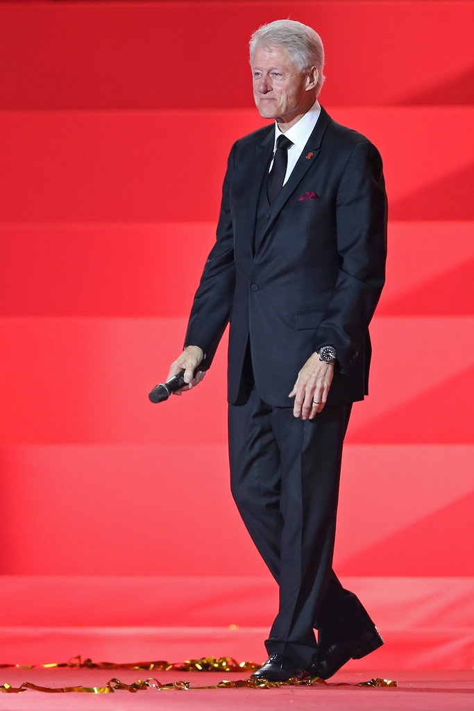 Former President Bill Clinton on stage at the 2013 Life Ball in Vienna, Austria.