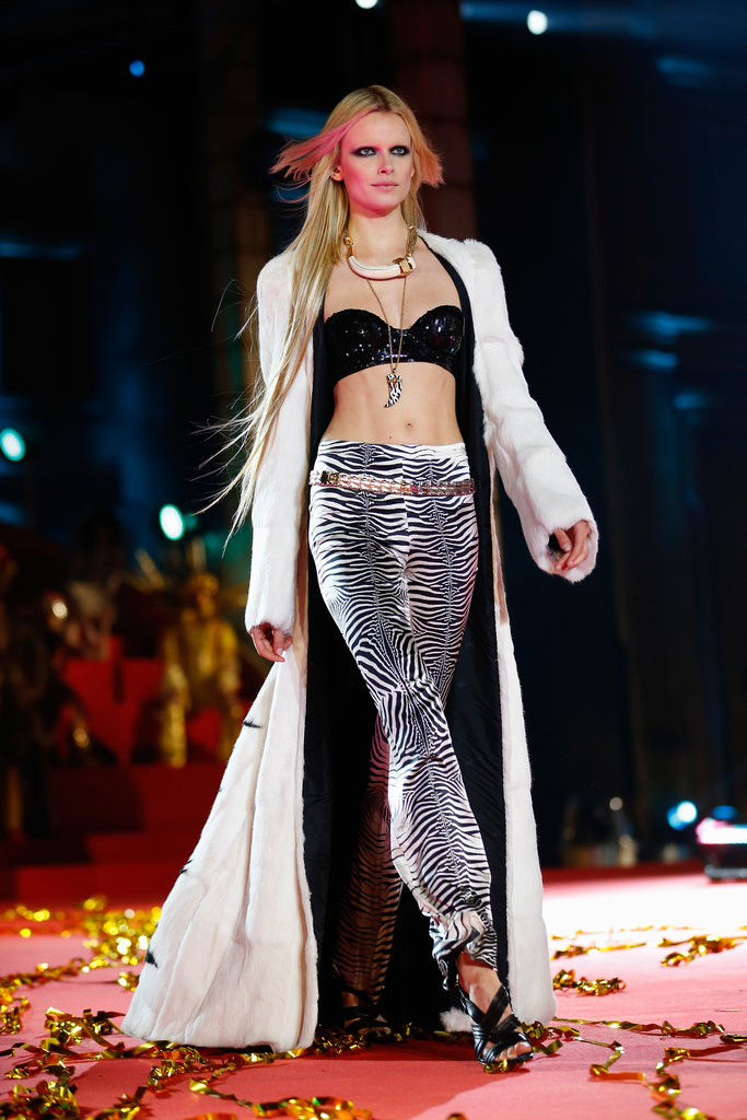 A model on the runway at the 2013 Life Ball in Vienna, Austria.