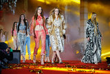 Models during the final of Roberto Cavalli's show at the 2013 Life Ball in Vienna, Austria.
