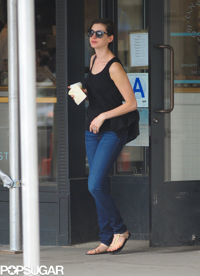 Anne Hathaway grabbed coffee in NYC.