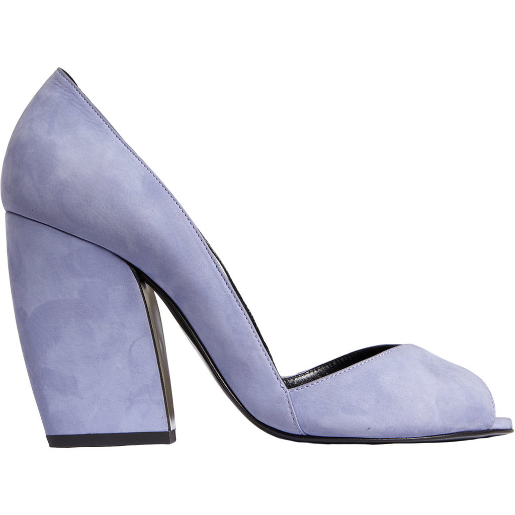 Add a standout pump to your work wardrobe. We love the thick, sloped heel of this lilac Pierre Hardy pair ($619, originally $1,025).
