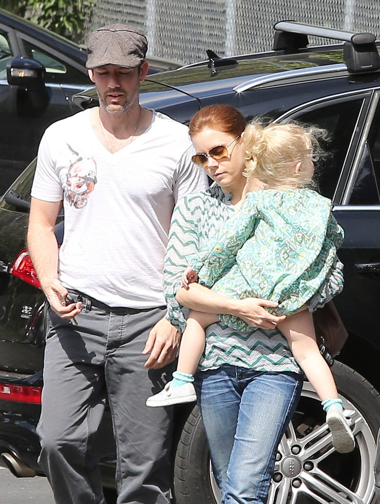 Amy Adams and Darren Le Gallo went to breakfast in LA with their daughter, Aviana.