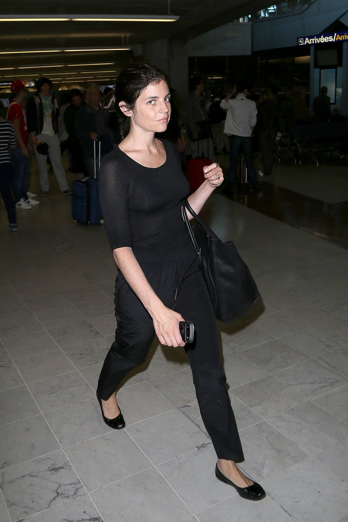 Just when you're about to slip into your sweats and board the plane, remember how good Julia Restoin Roitfeld looked in all black at a French airport, and swap the loungewear for a chic black tee and trousers.