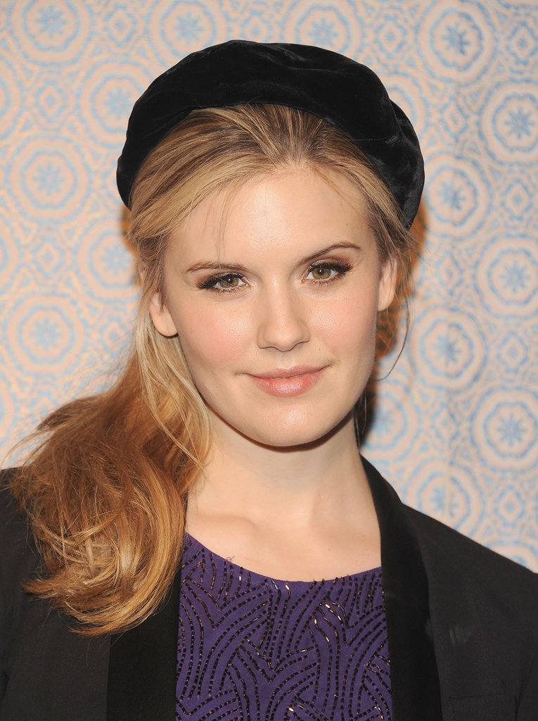 A beret gave Maggie Grace's off-center ponytail a Parisian flair during New York Fashion Week.
