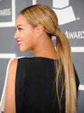Beyoncé went for an extralong ponytail at the Grammy Awards. Get her look by adding a few extensions.