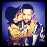 Nicole Richie laid a smooch on her husband, Joel Madden. Source: Instagram user nicolerichie