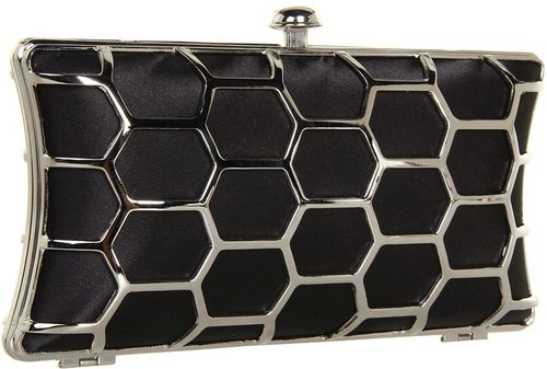 Jessica McClintock - Mesh Minaudiere (Black) - Bags and Luggage