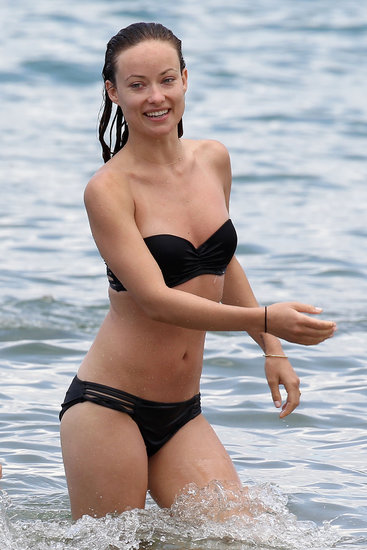 Olivia Wilde looked fit in her black bikini in May during a romantic Hawaiian getaway with fiancé Jason Sudeikis.