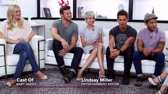 The Cast of Baby Daddy Goes Head to Head in Our Diaper Derby Challenge!