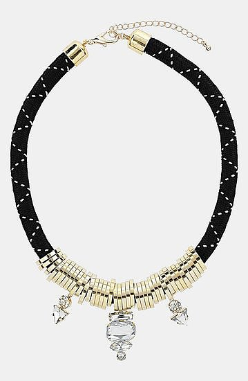 This Topshop collar necklace ($30) manages to be both a little sporty and totally gl