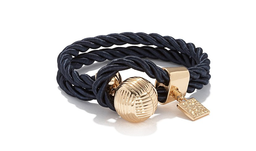 Channel a little of the Summer's nautical theme with this Anne Klein rope bracelet ($36).