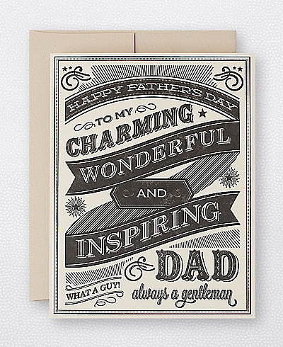 This chalkboard-inspired card ($5) will make Dad's chest swell with pride.