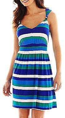 a.n.a® Knot-Shoulder Smocked Dress