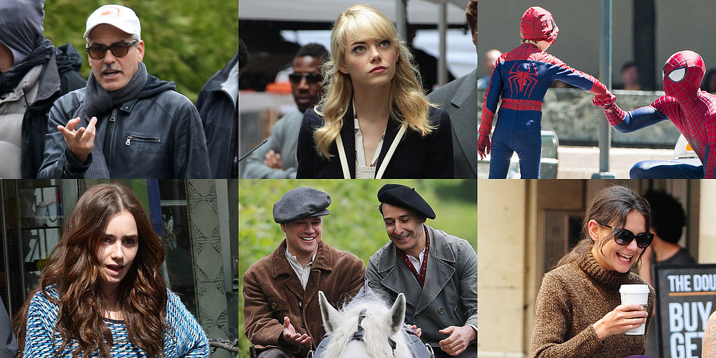 Matt Damon, Andrew Garfield, Katie Holmes, and More Stars on Set