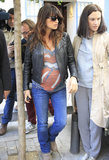 Pregnant Penélope Cruz covered her baby bump in a Rolling Stones tee.