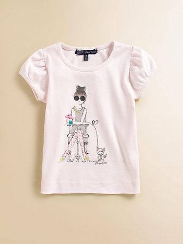 Lili Gaufrette Toddler's & Little Girl's Girl & Dog Tee