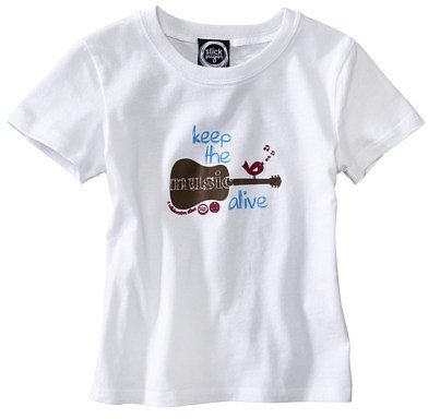Keep The Music Alive Toddler Short-Sleeve Tee - White