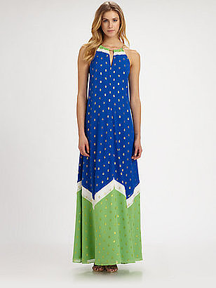 As the temperatures heat up, I'm feeling less inclined to layer, which is why I love this colorblock maxi by Lilly Pulitzer ($328). With statement add-ons — hello, chain-link neckline! — and its brilliant cobalt hue, this dress will take you from day to night with minimal work.  — Mandi Villa