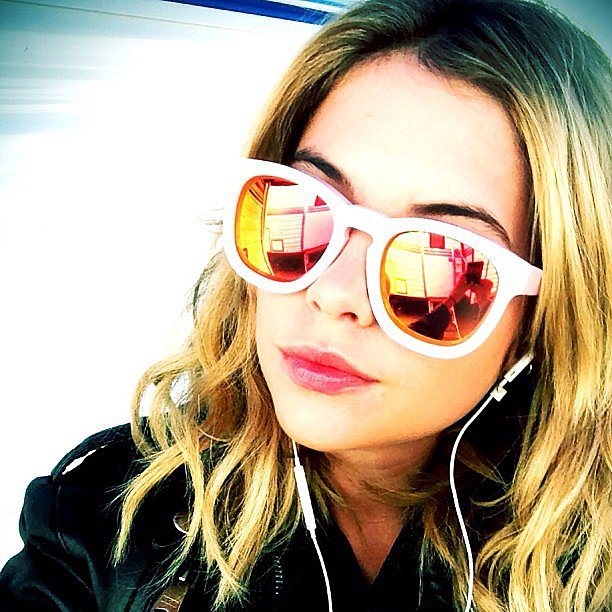 We're smitten with Ashley Benson's mirrored Wildfox Couture shades. Source: Instagram user itsashbenzo