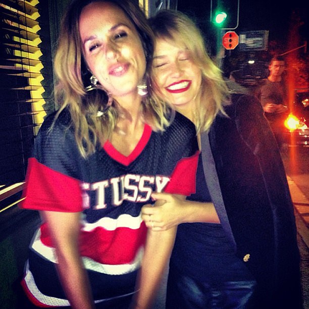 Pip Edwards and Lara Bingle linked up at a shopping event in Sydney on Thursday night. Source: Instagram user mslbingle