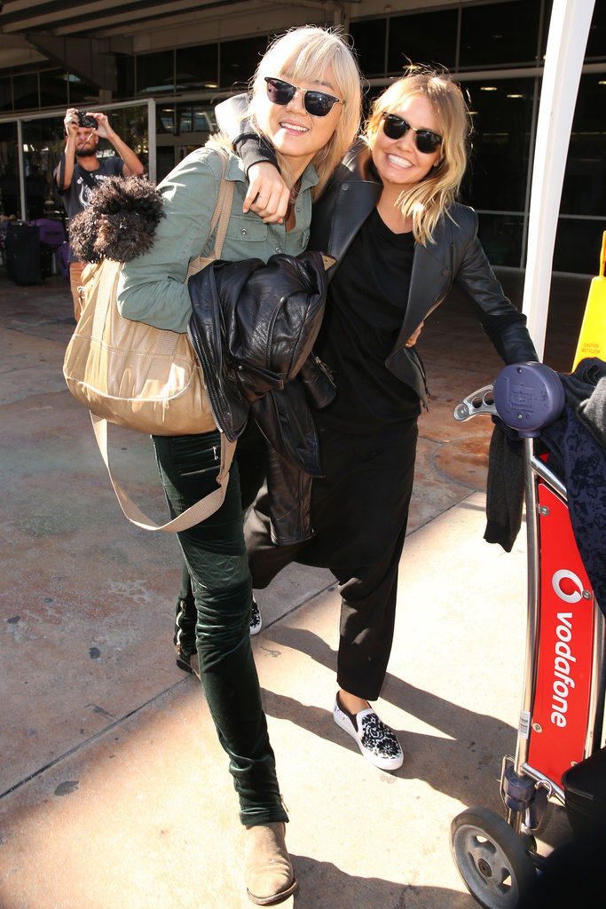 Lara Bingle was reunited with her best friend Vicki Lee on May 30, after returning to Sydney from a holiday in New York.