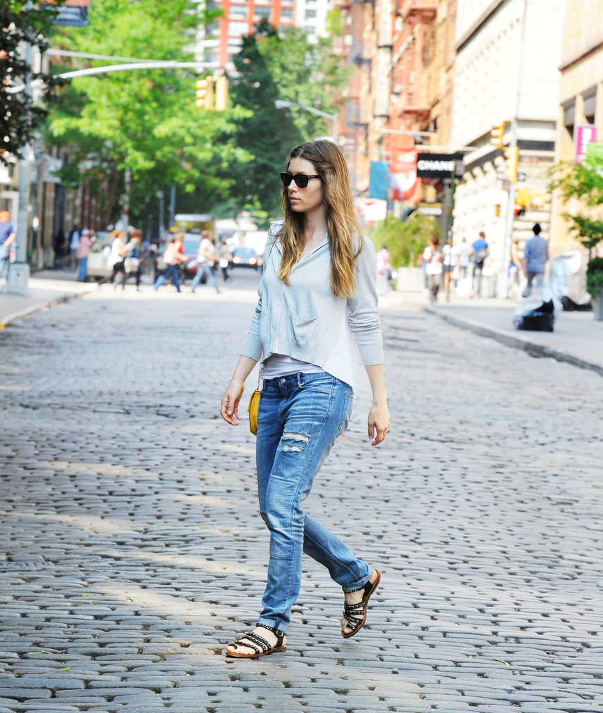 Jessica Biel was looking casually cool as she strolled through Soho in New York on May 29.