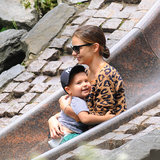 Miranda Kerr took some time out from her busy schedule to accompany her son Flynn to a New York playground on May 29.