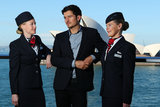 Orlando Bloom made a super-quick stopover in Sydney on May 29, to promote British Airways' new products on the Sydney to London route. Orlando is the British airline's ambassador, while his wife Miranda is the face of Qantas. Tricky!