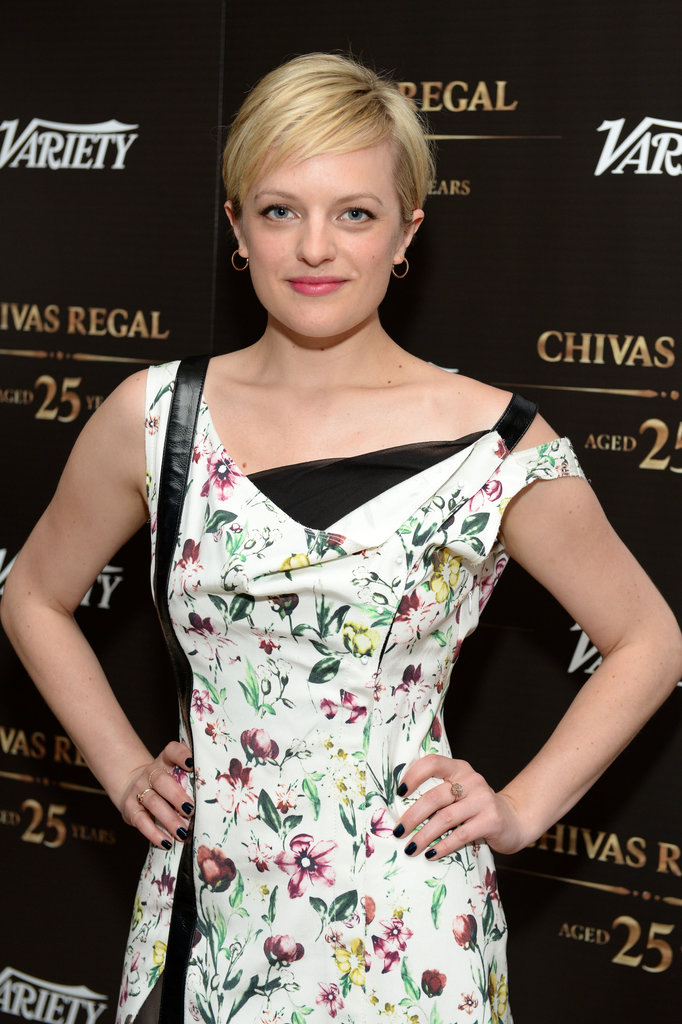 Elisabeth Moss's platinum pixie is a modern spin on a vintage classic.