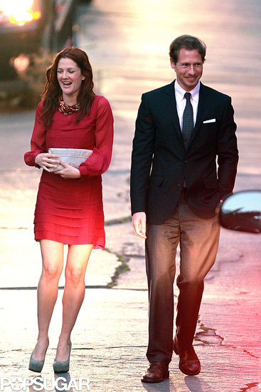 Drew Barrymore and Will Kopelman shared a laugh leaving a Beverly Hills home in June 2011.