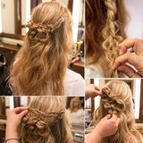 This unique braided hair tutorial was one of the favorites among our readers. It's perfect for both brides and wedding guests.