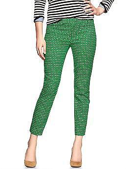 Slim cropped print pants | Gap