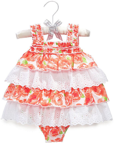 First Impressions Baby Bodysuit, Baby Girls Flower Ruffle Sunsuit