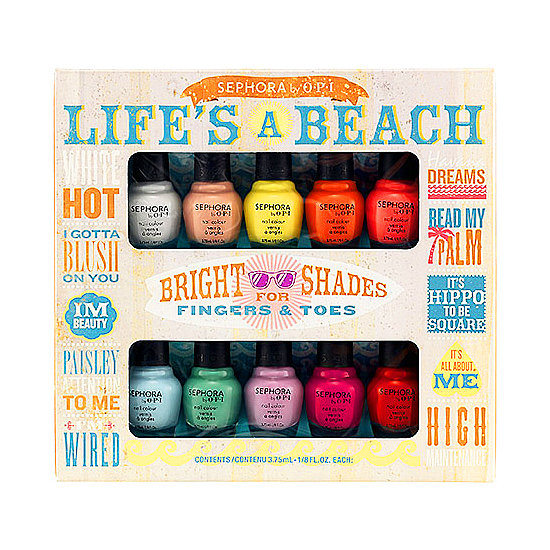 If there's any season to get playful with your nails, it's definitely Summer. From sweet pastels to vibrant hues, the Sephora by OPI Life's a Beach Mini Kit ($36) has 10 exciting colors for you to play with on your fingertips and toes all Summer long. I can't wait to wear every single one of them. — Kaitlyn Dreyling